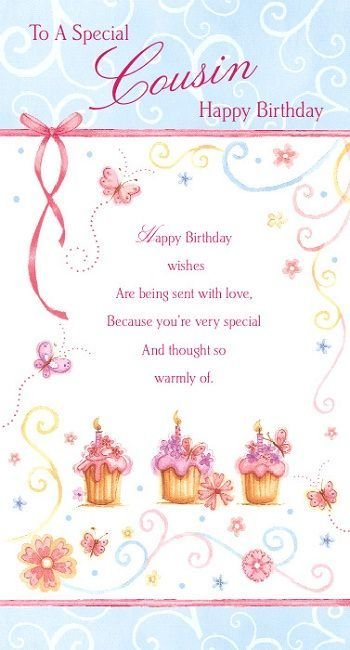 Female Relation Birthday Greetings Cousin Birthday Birthday