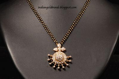 Latest indian gold and diamond jewellery designs gold mangalsutra latest indian gold and diamond jewellery designs gold mangalsutra designsblack beads with diamond pendants aloadofball Gallery
