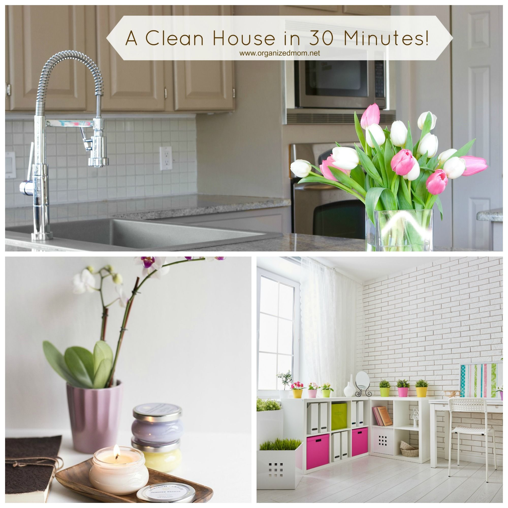 Clean your house in less than 18 Minutes!  Cleaning hacks