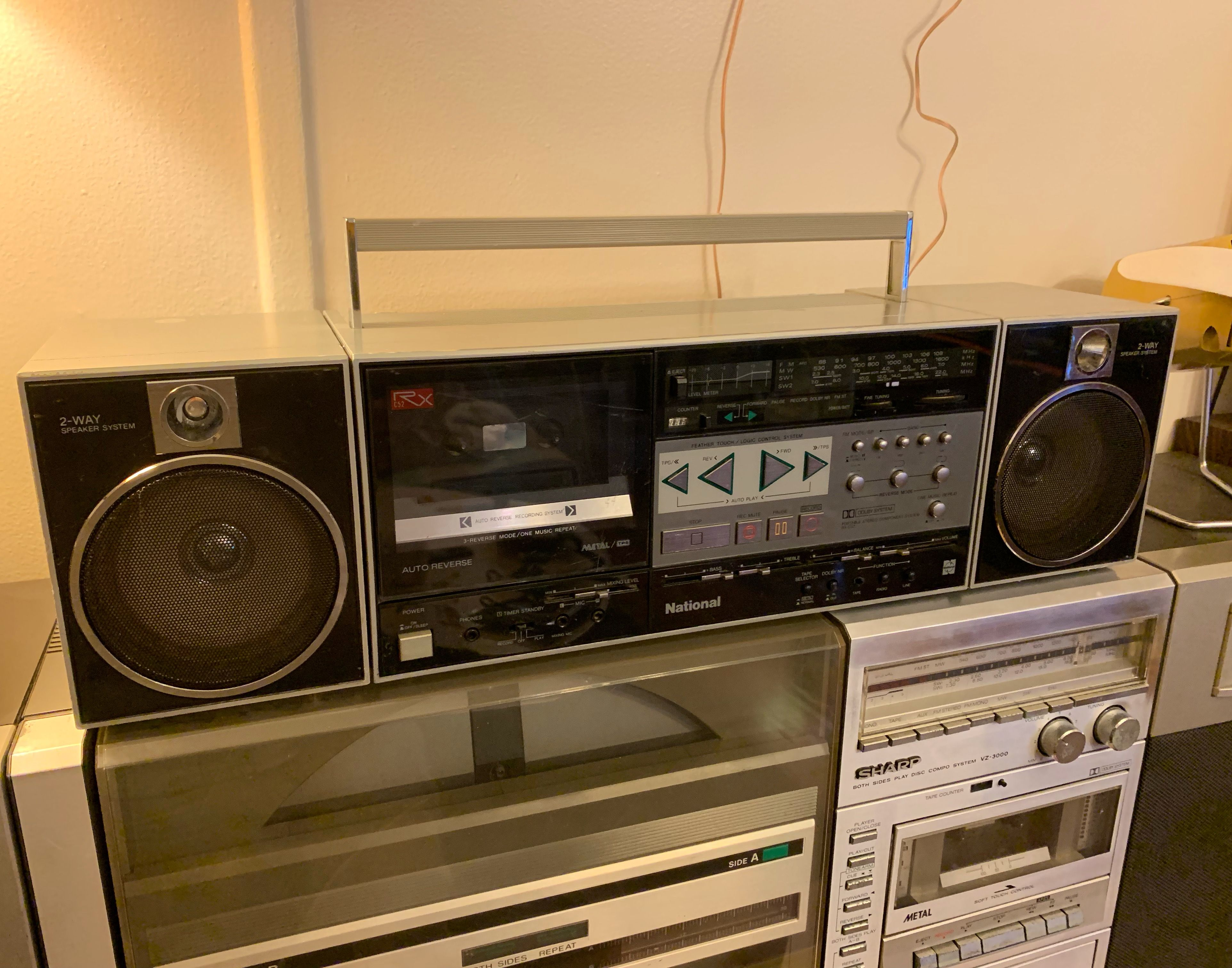 National Rx C52 Boombox Ghettoblaster Boombox Radio Cassette Hifi