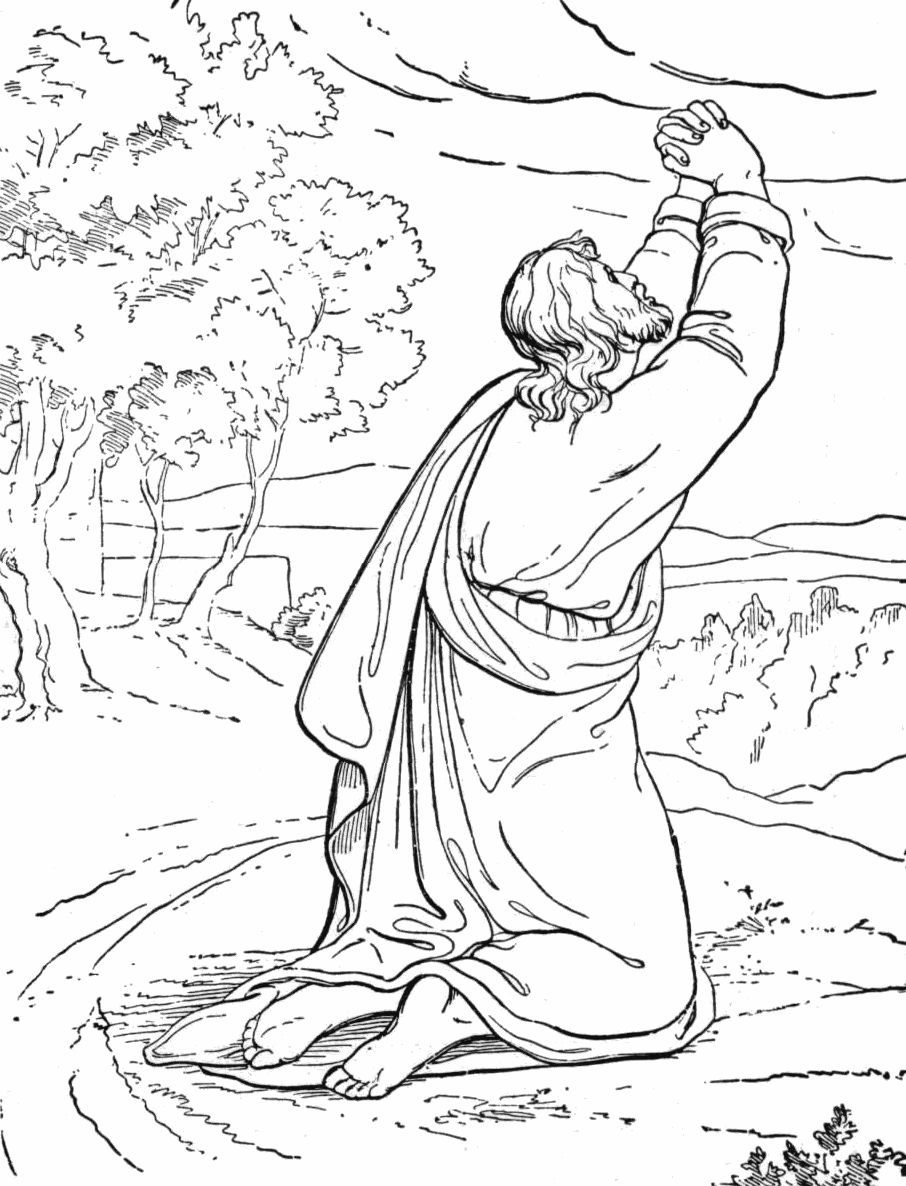 Jesus Praying2 Jpg 906 1186 Jesus Coloring Pages Coloring