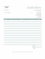 Credit Memo Simple Blue Design  Make To Invoice