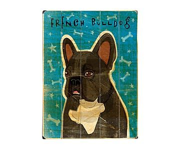 Cuadro en madera de abedul French Bulldog - 30,5x40,6 cm
