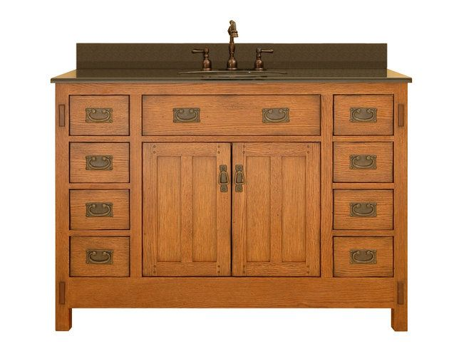 craftsman and mission style bathroom vanities | american craftsman