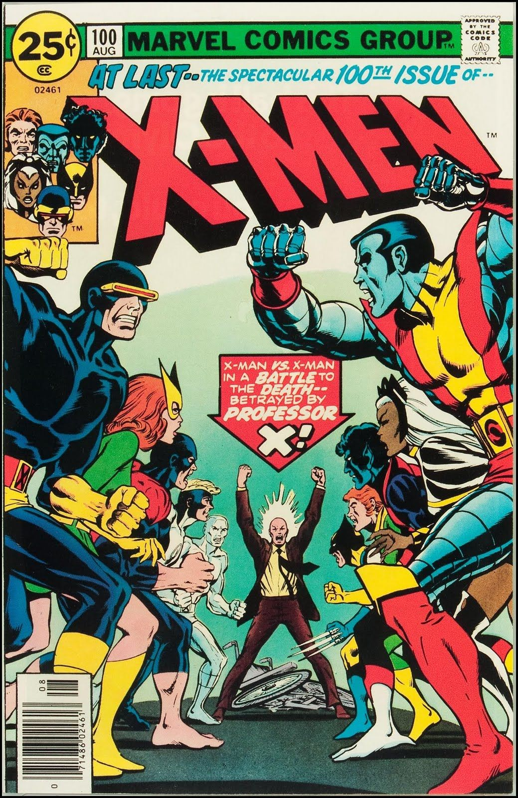 Uncanny X Men Vol 1 100 One Of My Favorite X Men Covers Marvel Comics Historietas Comic Comic Books