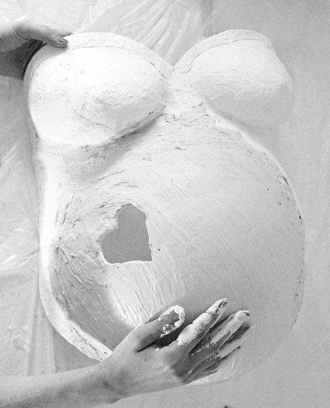 gipsbauchabdruck babybauch schwangerschaft
