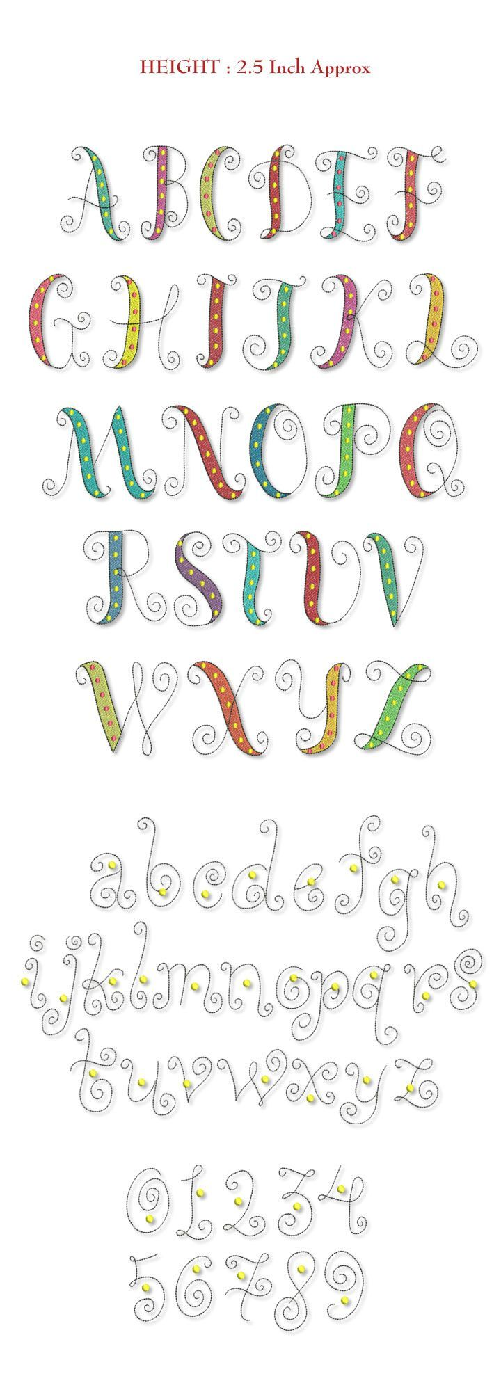 Dead Link But Cute Font Single Letter Smartstitches Embroidery Designs Whimsy