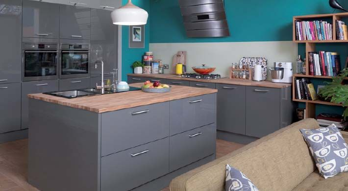 astral grey fitted kitchenmagnet #greykitchen #glosskitchen
