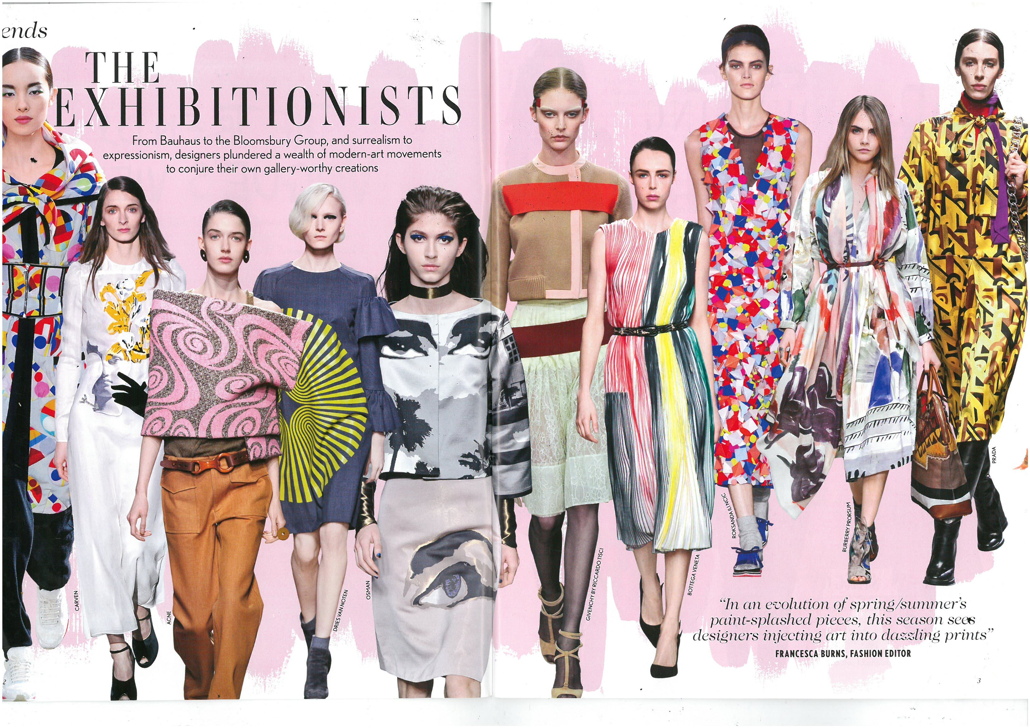 Vogue Trend The Exhibitionists  Fashion magazine layout, Fashion
