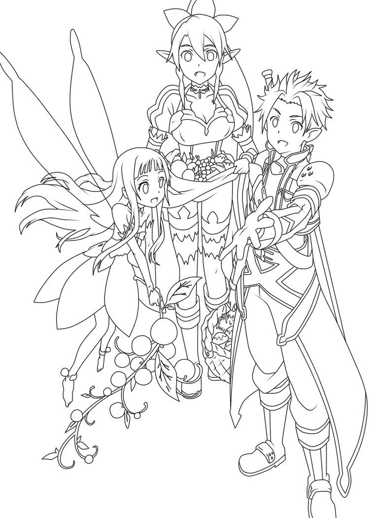 Anime Colouring Page Sword Art Online Kirito Sword Art Online Online Coloring Pages