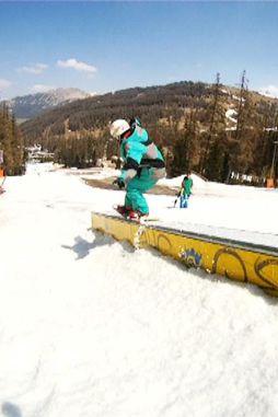 Miriam de Un Par de Jamones Crew. Snowboard