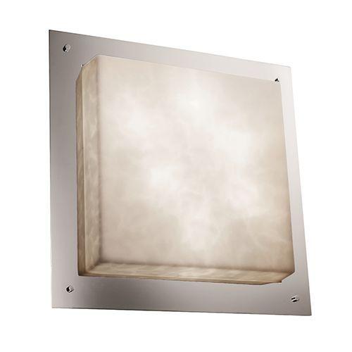 Clouds Matte Black 24-Inch Wide LED Square Framed Flush Mount - (In Matte Black)