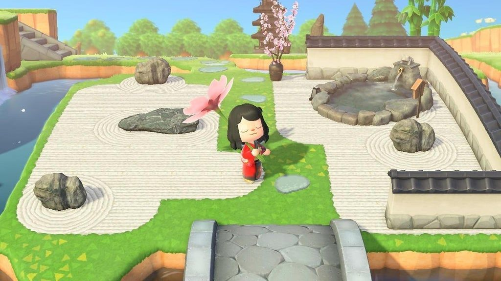 Just built a zen garden for my island today to get some