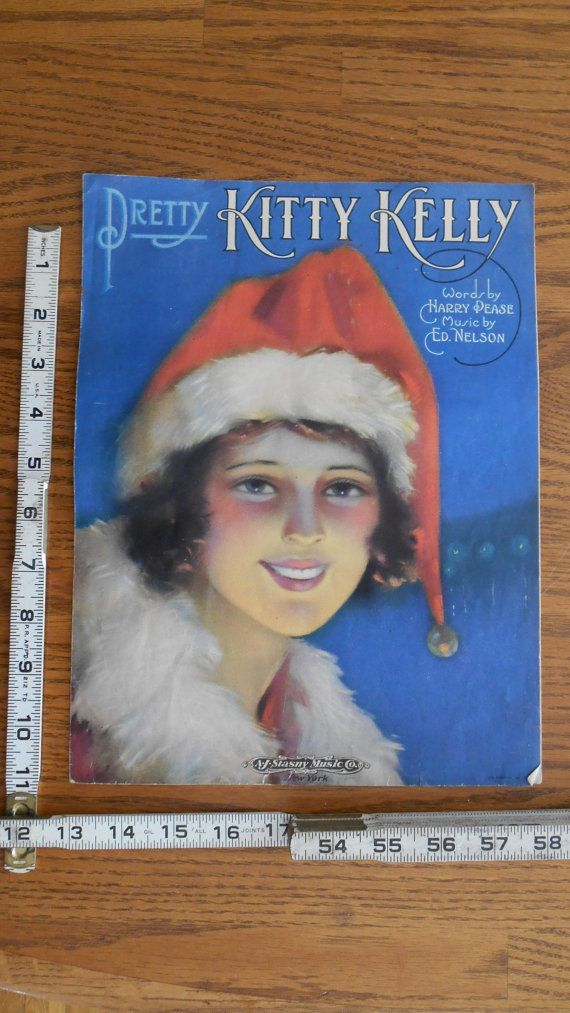1920's Vintage Christmas Ready to Frame Kitty Kelly Etsy