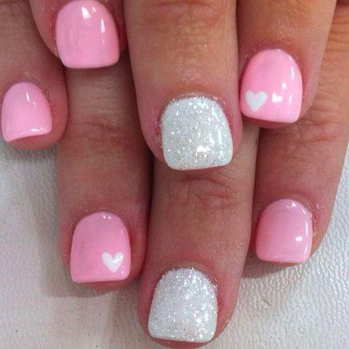 14 Super Cute Valentine S Day Nail Art Designs Nails Pinterest