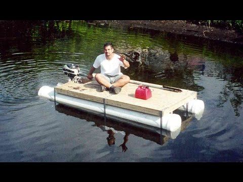 Pvc Pipe Pontoon Boat Homemade Boat In 1 Day Youtube