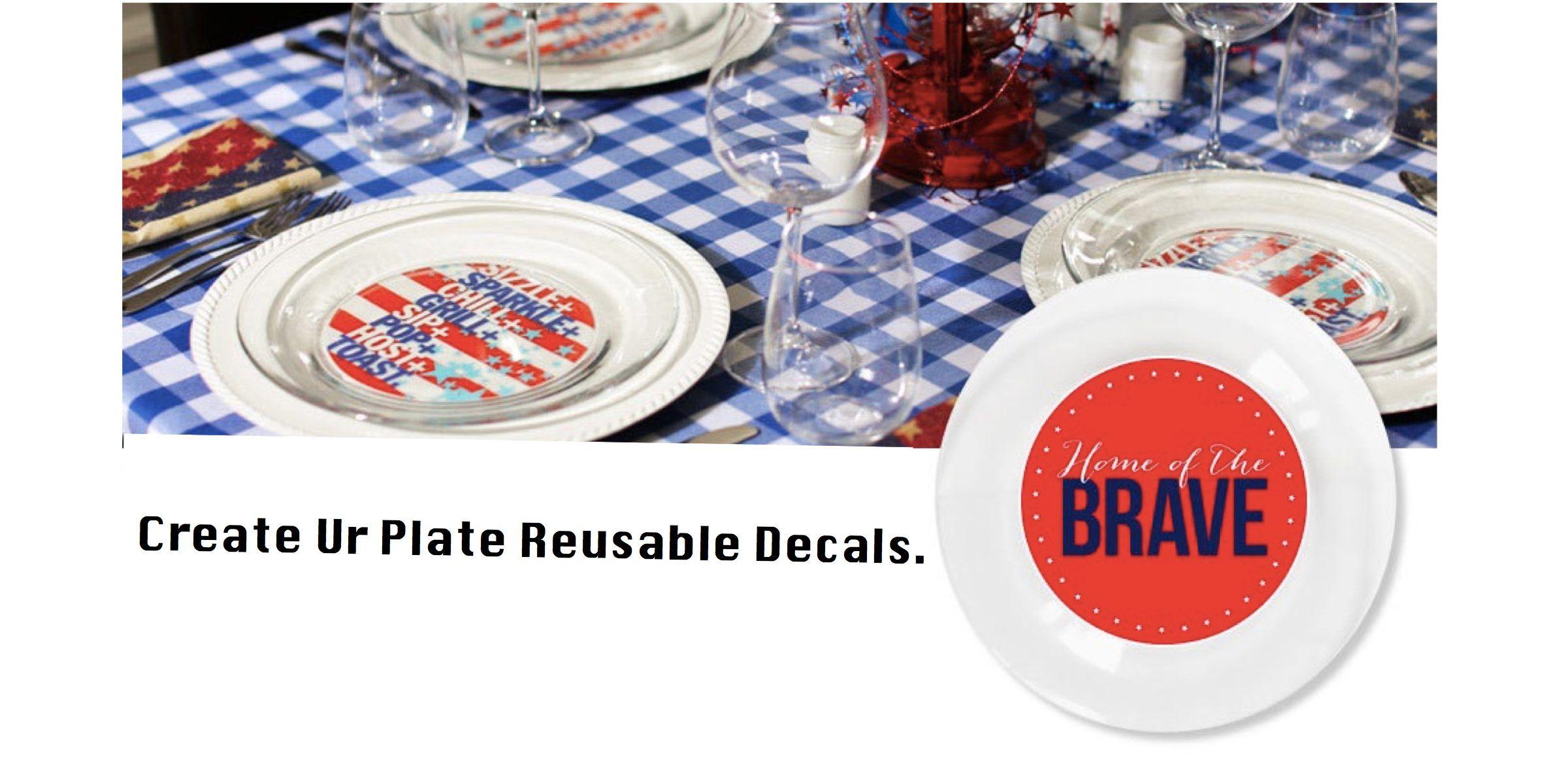 Reusable Patriotic Plates  sc 1 st  Pinterest & Reusable Patriotic Plates   Patriotic Party   Pinterest   Patriotic ...