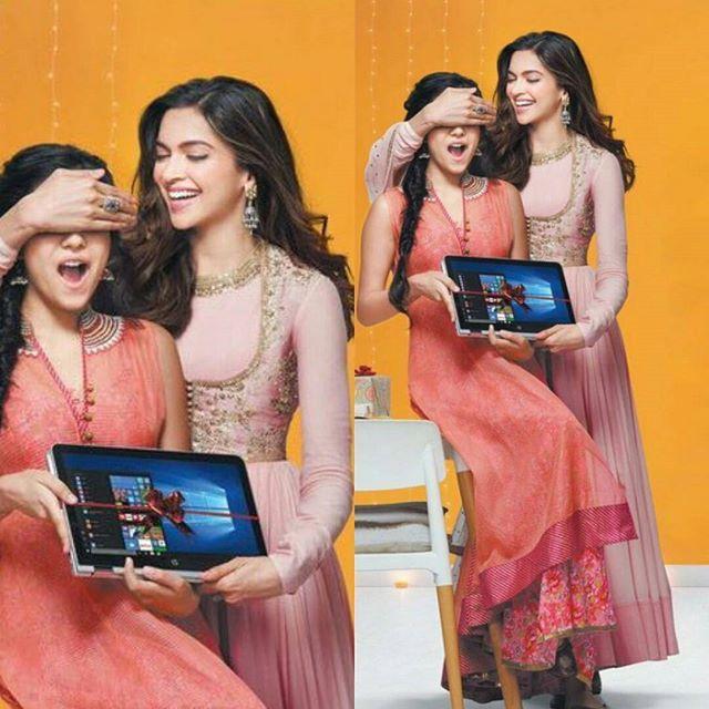 (New) : Stunning @deepikapadukone and model @radhikasethh for HP India.  #DeepikaPadukone #Deepika #Bollywood #Hollywood