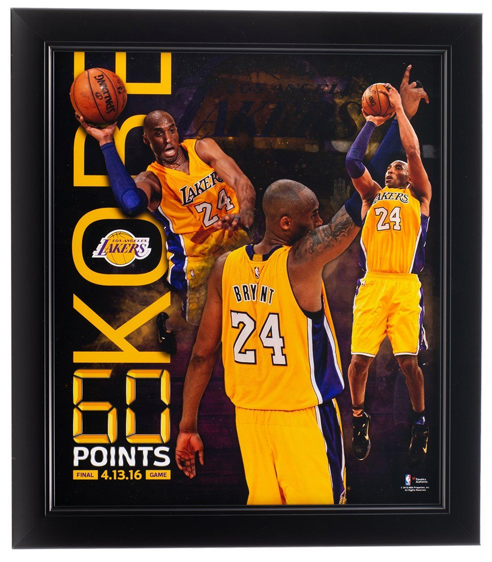 Kobe Bryant 11x13 Los Angeles Lakers 60 Point Frame Sportsmemorabilia Autographs In 2020 Kobe Bryant Kobe Bryant Los Angeles Bryant Lakers