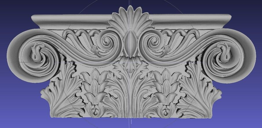 3d model of capital for column and pilaster projects. #architecture #architect #interior #designer #homedecor #3d #model #cabinetry #woodwork #historic