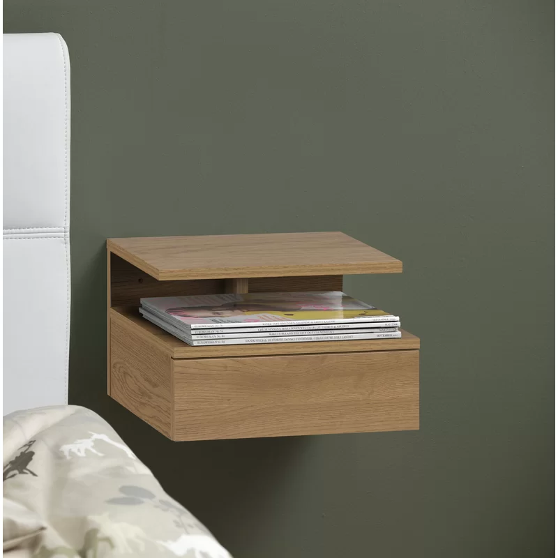 1 Drawer Bedside Table Wall Mounted Bedside Table Side Tables Bedroom Bedside Table