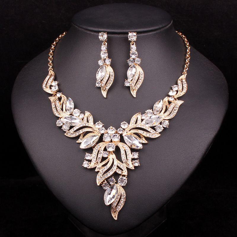 Ladies Diamante Necklace Earring Tikka Set Bridal Prom Costume Jewellery