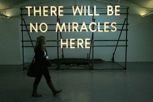 criwes:  There Will Be No Miracles Here (2006) by Nathan Coley