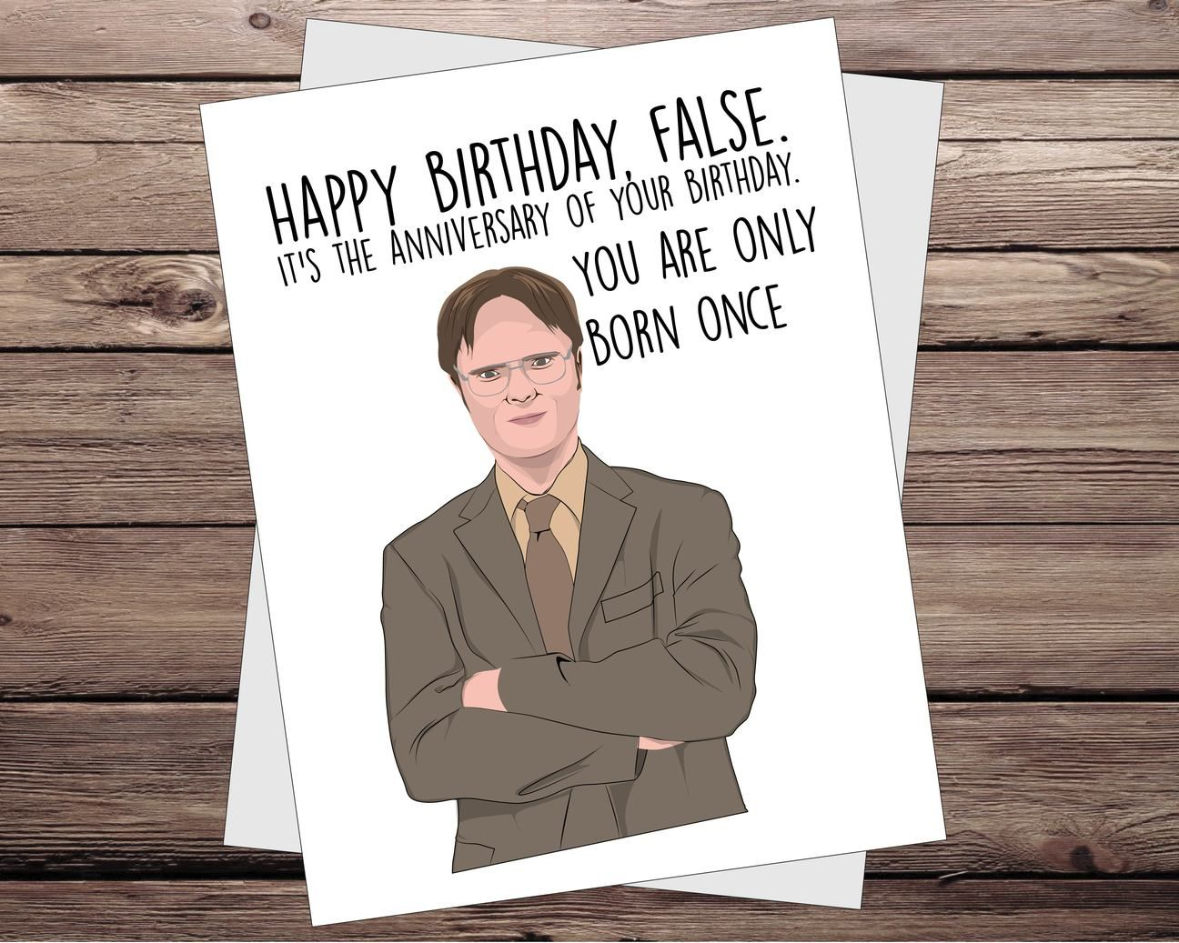 Dwight The Office Birthday Card Office Birthday Birthday Card