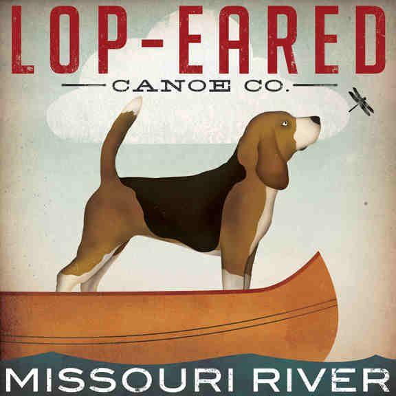 Beagle Art Lop Eared Canoe Co By Ryan Native Vermont Studio On