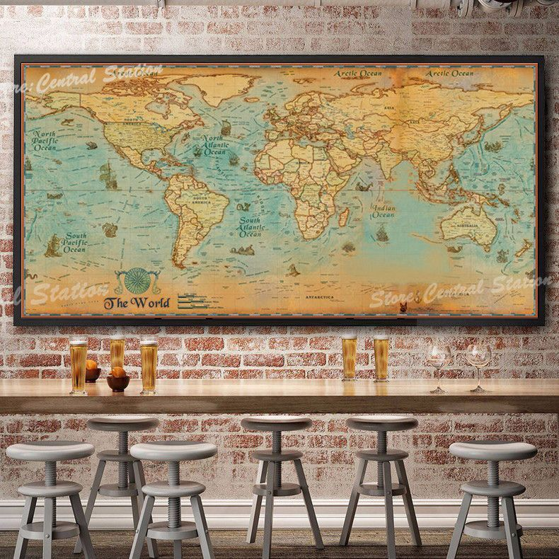 Giant vintage world map giant vintage and products giant vintage world map gumiabroncs Image collections