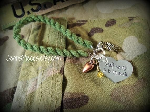 Half my heart is in Kuwait Boot Band Bracelet Red Friday