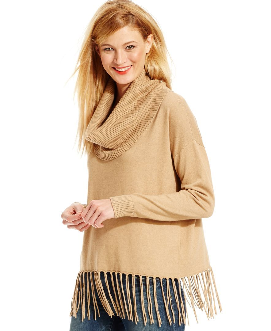 Michael Michael Kors Fringed Cowl-Neck Sweater | Products ...