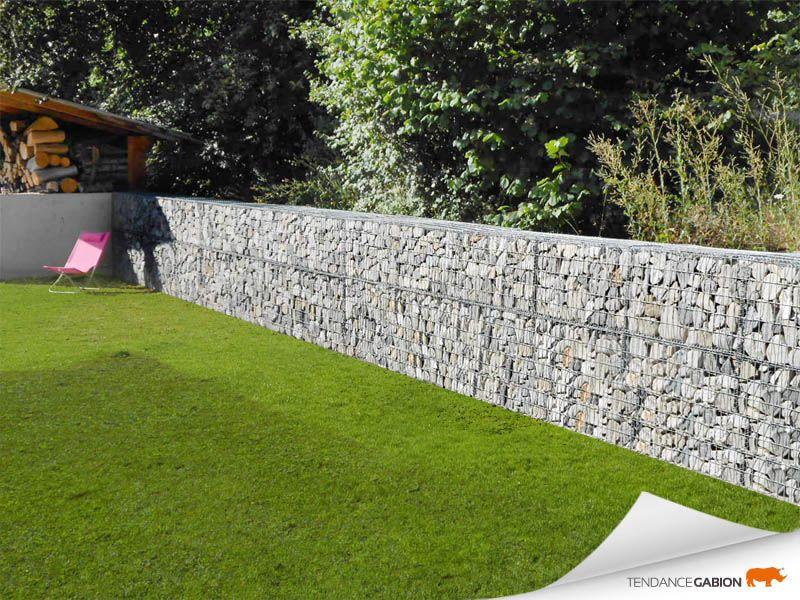 Tendance Gabion Petit Mur De Separation Jardins