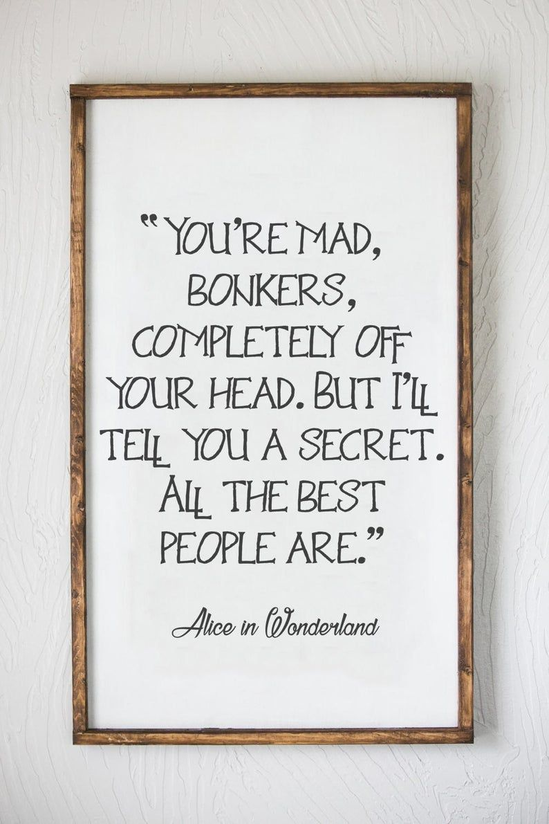 Alice in Wonderland  You're Mad Bonkers  All the Best | Etsy