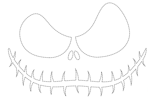Free printable jack skellington pumpkin carving stencil templates ...