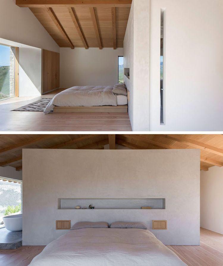 minimalistisch-wohnen-gemuetlich-haus-stein-holz-schlafzimmer