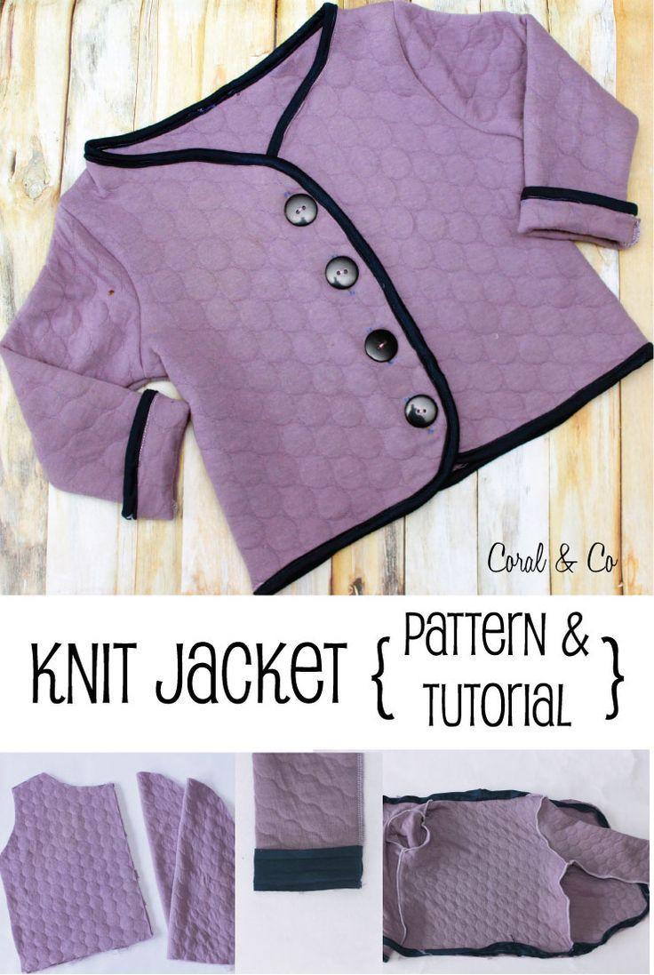 Girls Free Knit Coat Pattern and Tutorial | Pinterest