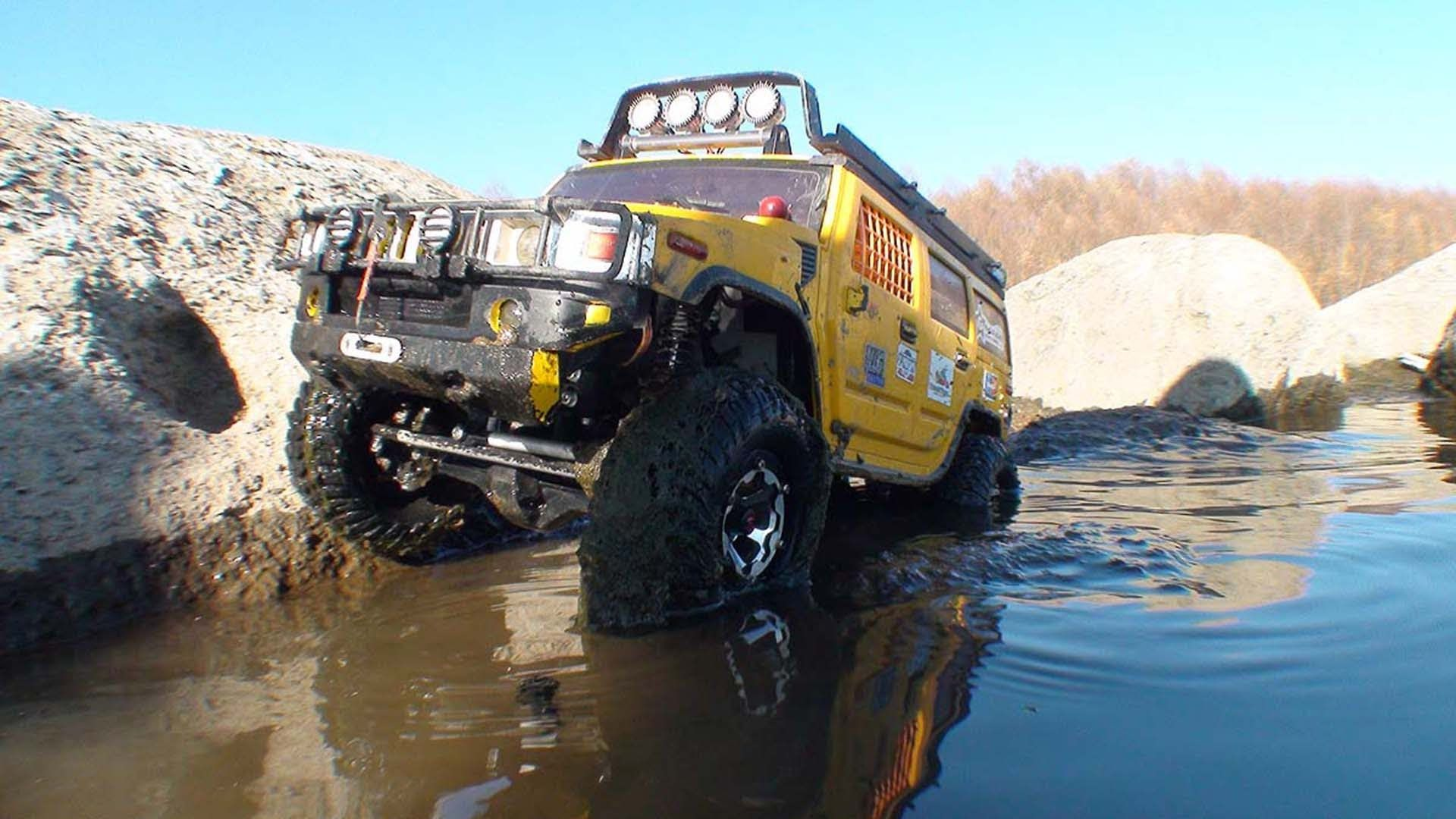 4x4 Hummer H2 Off Road Mud Rc Axial Wrait Hummer H2 Offroad Hummer