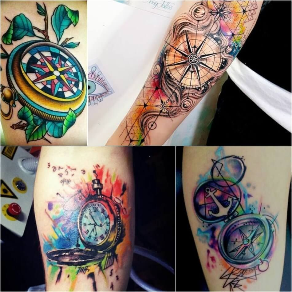 Compass Tattoo Designs Popular Ideas For Compass Tattoos With Meaning Compass Tattoo Design Tattoos With Meaning Watercolor Compass Tattoo