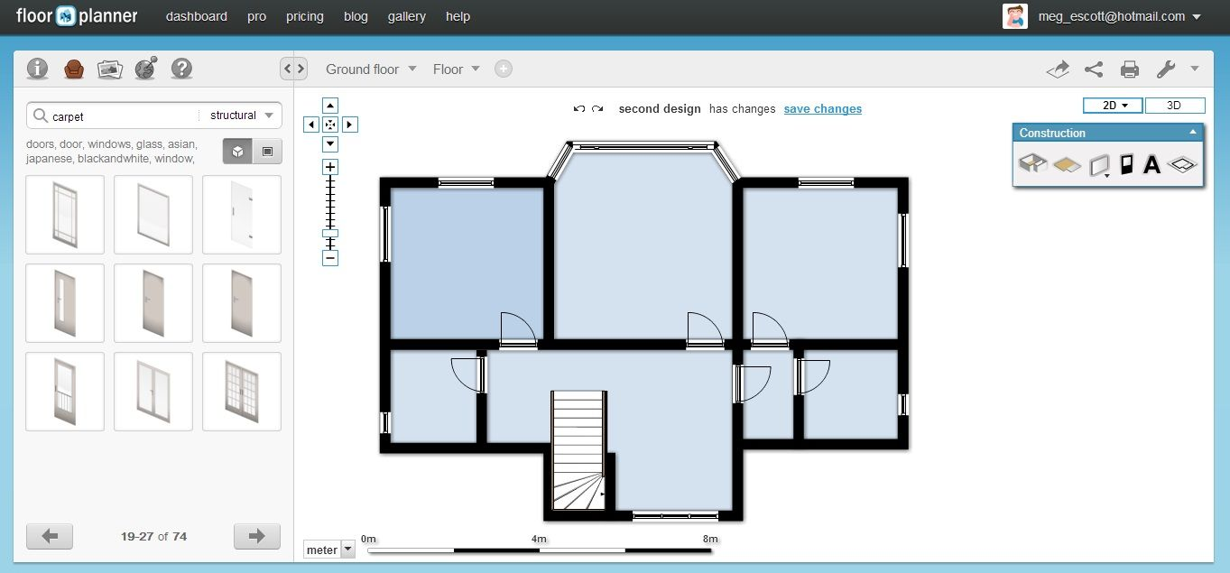 Free Easy To Use House Plan Drawing Software In 2020 Free Floor Plans Floor Planner Floor Plan Creator