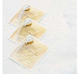 Gifts from the Heart Poetry Card - Wedding Ceremony Accessories - Weddings/Occasions
