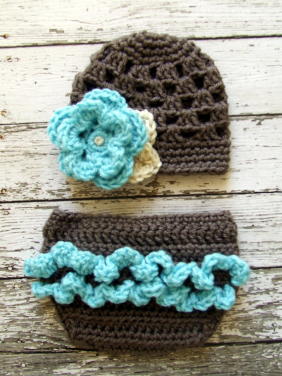 Diaper Cover With Ruffle Pinterest Taupe Aqua And Crochet