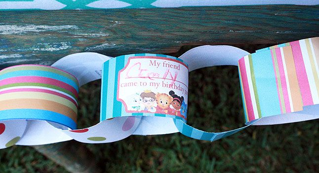 Paper Chain Link Template Daniel Tiger Birthday Party PBS