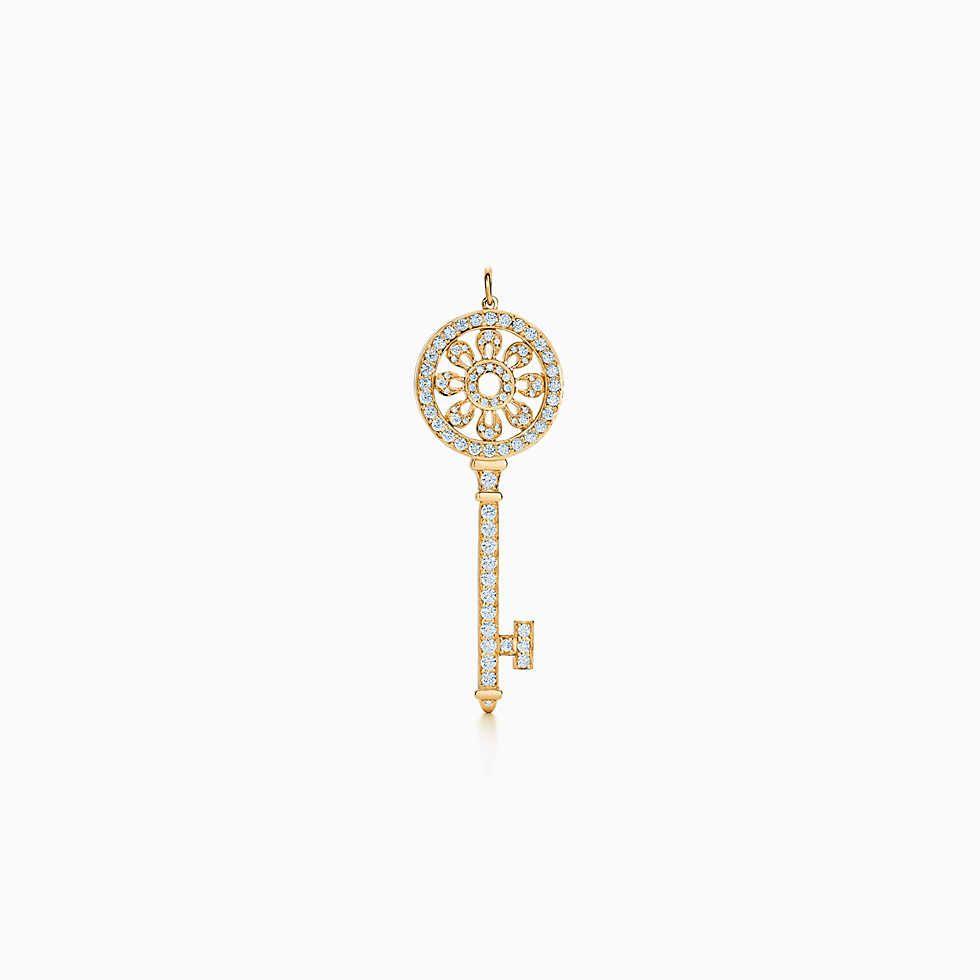 Tiffany Keys Fleur de Lis diamond key pendant - Metallic Tiffany & Co. DgW0hsX6R2