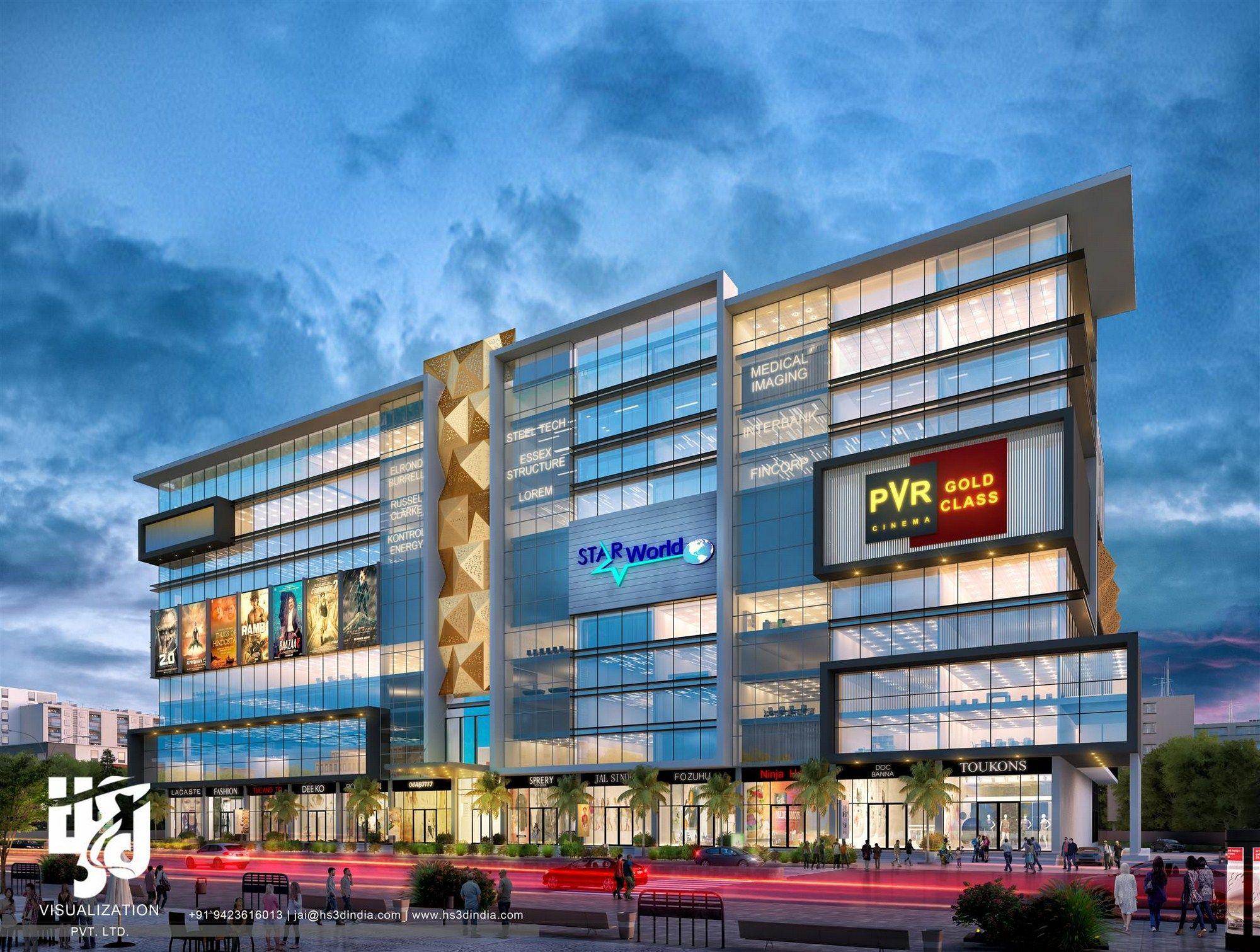Modern Commercial Design Photorealistic Cgi Visualization Mall Facade Facade Design Shopping Mall Architecture