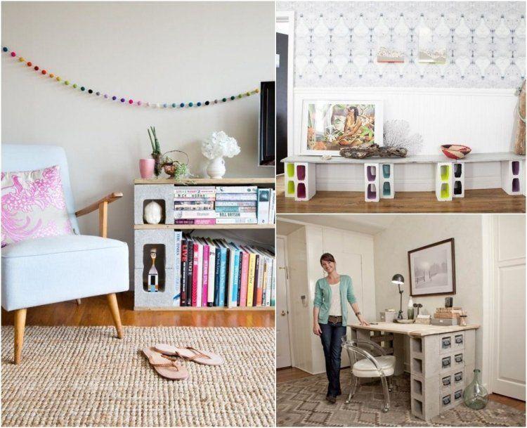 parpaing creux comment en faire des meubles fonctionnels am nagement pinterest parpaing. Black Bedroom Furniture Sets. Home Design Ideas