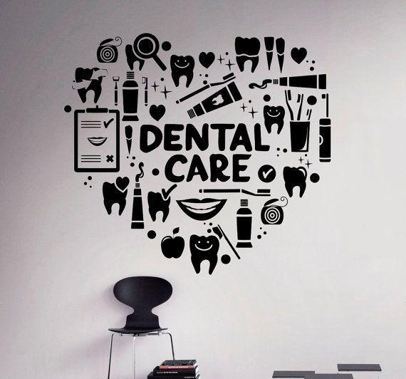 Dental Care Wall Decal Dentist Vinyl Sticker Wall Art Decor Home - Vinyl stickers design