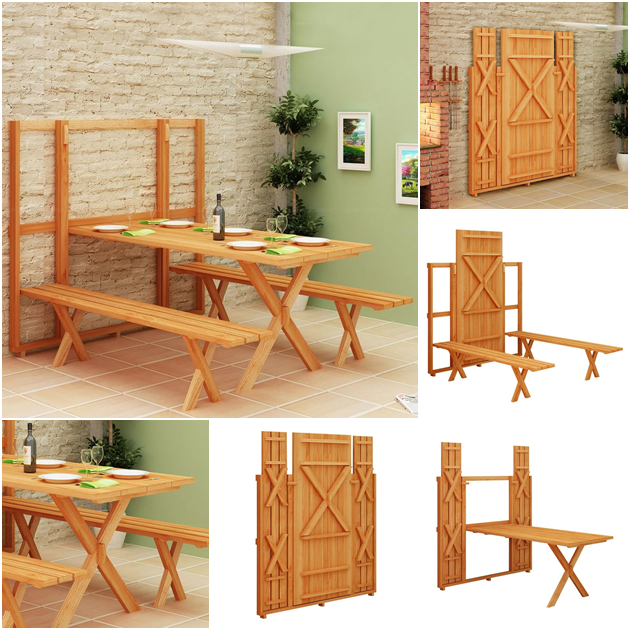 So cool! Murphy picnic table