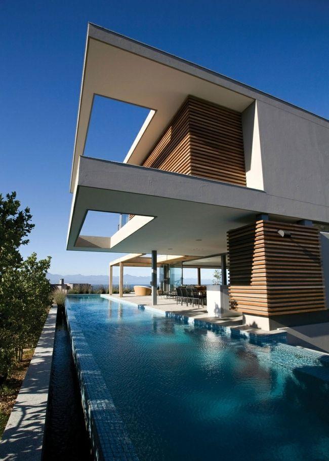 Traum Sommer Pool Bilder minimalistische Architektur Domy