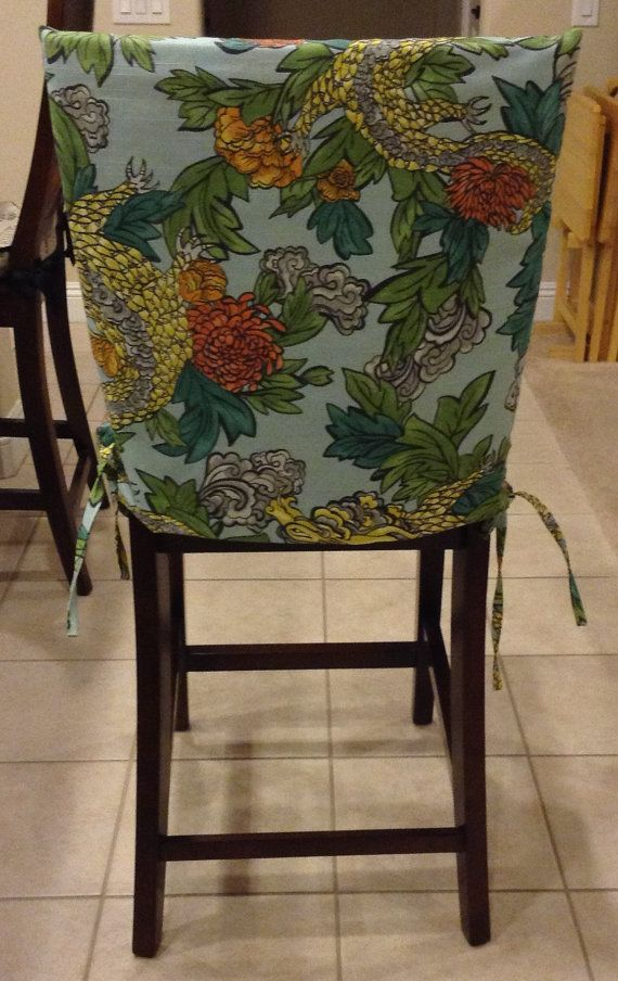 Kitchen Chair Slipcover Back Cover By BrittaLeighDesigns Dining Room